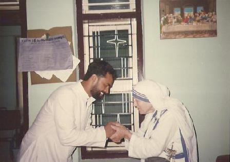 Mother Teresa & Father George.
